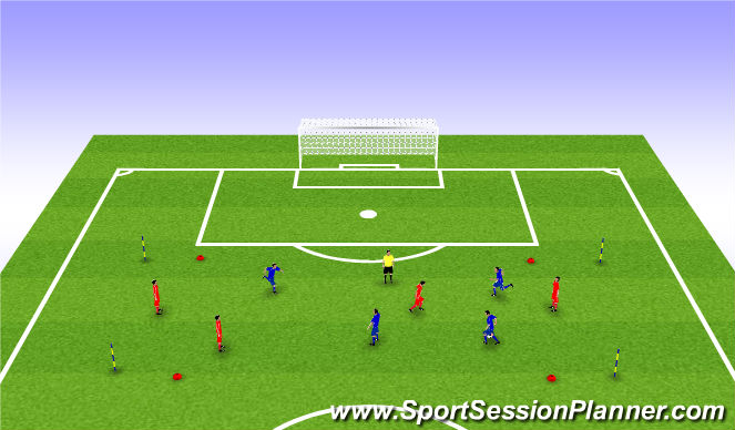Football/Soccer Session Plan Drill (Colour): Combinations into Finishing