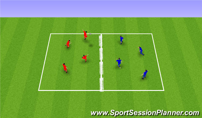 Football/Soccer Session Plan Drill (Colour): Skill Tennis