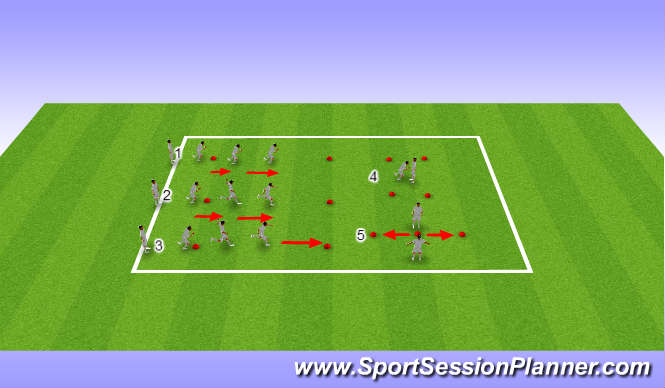 Football/Soccer Session Plan Drill (Colour): Landing Mechanics & Agility