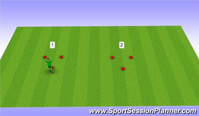 Football/Soccer Session Plan Drill (Colour): Handling and Foot Warm-up