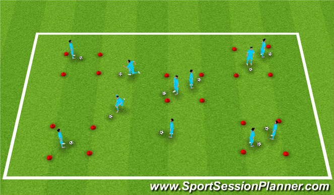 Football/Soccer Session Plan Drill (Colour): Island  Game
