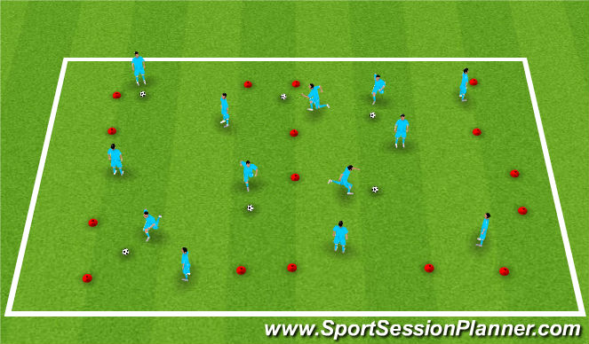 Football/Soccer Session Plan Drill (Colour): Everyone vs. Everyone