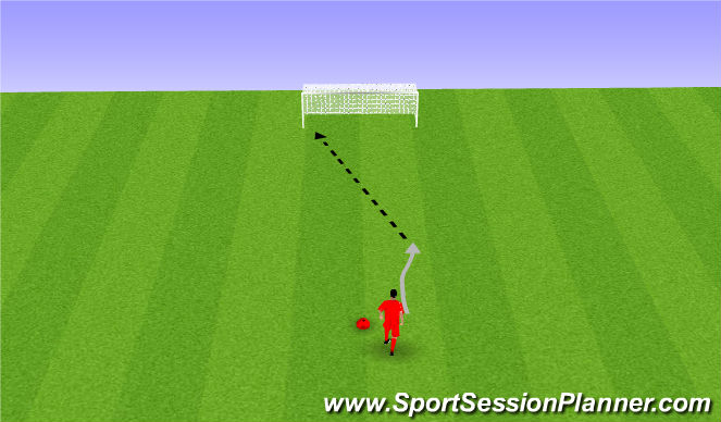 Football/Soccer Session Plan Drill (Colour): Shooting. Strzały,