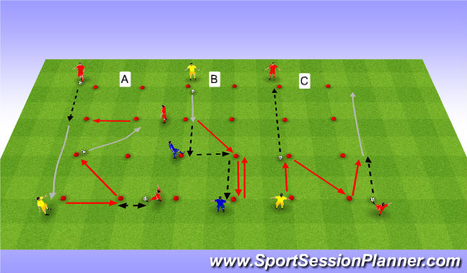 Football/Soccer Session Plan Drill (Colour): AA.