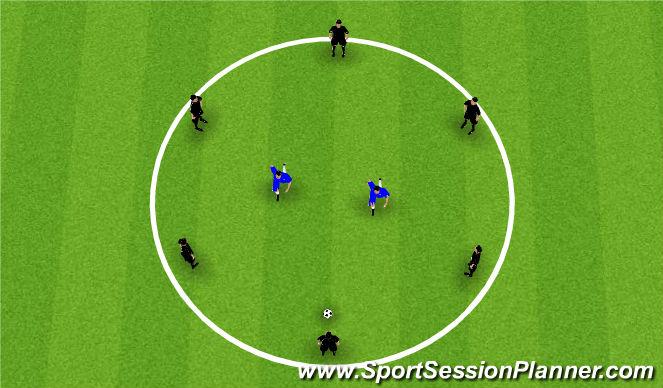 Football/Soccer Session Plan Drill (Colour): Circle Rondo