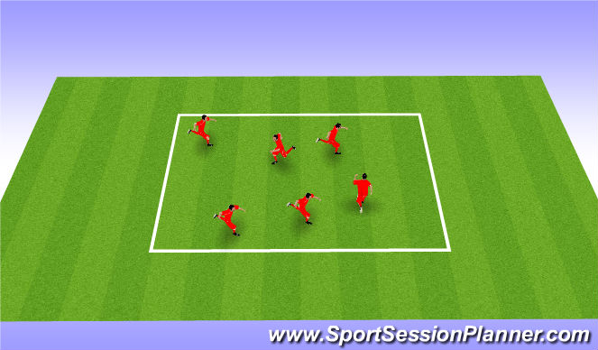 Football/Soccer Session Plan Drill (Colour): Individual Tag