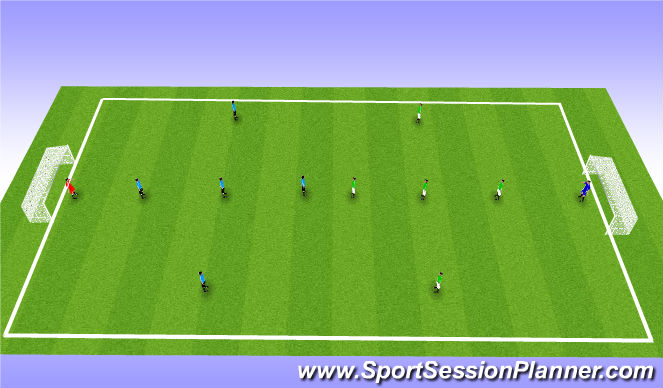 Football/Soccer Session Plan Drill (Colour): Scrimmagge