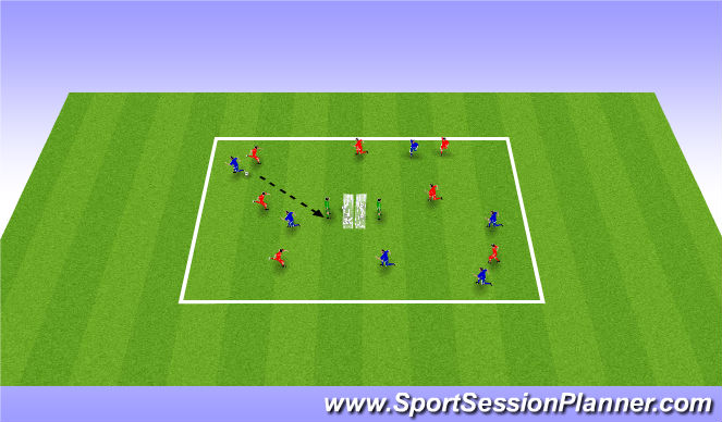 Football/Soccer Session Plan Drill (Colour): Game Scenario - Shooting