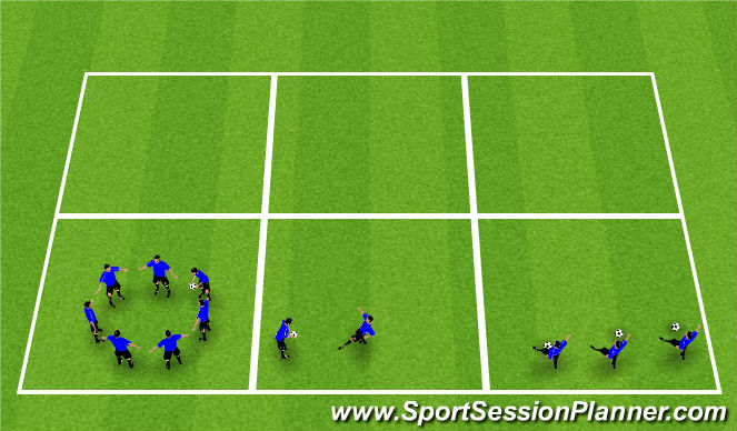 Football/Soccer Session Plan Drill (Colour): Juggling Challenges
