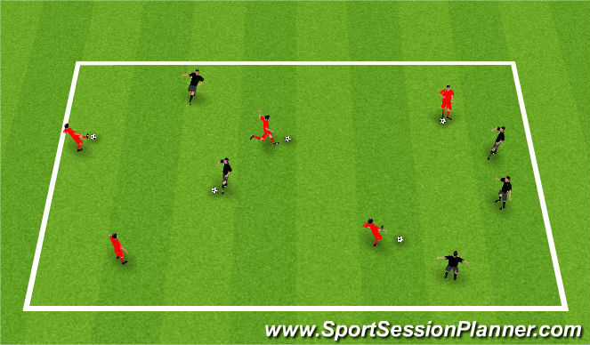 Football/Soccer Session Plan Drill (Colour): Passing and Recieving in Pairs