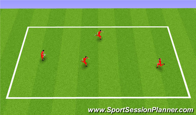 Football/Soccer Session Plan Drill (Colour): Tag. Berek