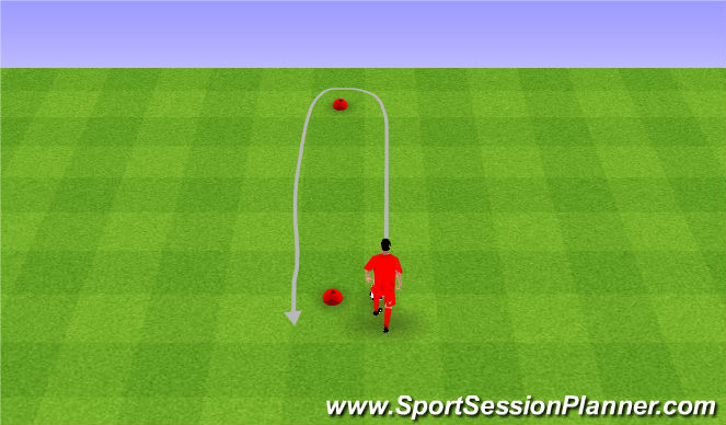 Football/Soccer Session Plan Drill (Colour): Dribbling and close control. Prowadzenie piłki.
