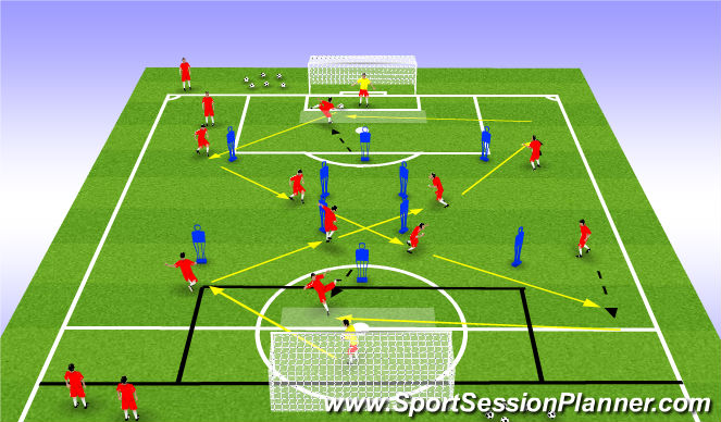 Football/Soccer Session Plan Drill (Colour): Pass / Receiving Drill
