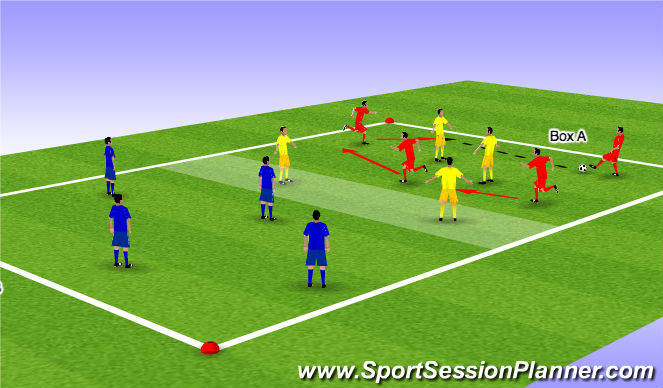 Football/Soccer Session Plan Drill (Colour): Mourinho's Drill #31