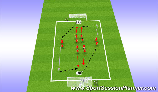 Football/Soccer Session Plan Drill (Colour): Mourinho's Drill #14