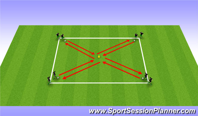 Football/Soccer Session Plan Drill (Colour): Ball Mastery - Warm Up