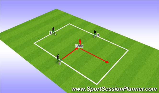Football/Soccer Session Plan Drill (Colour): Feints - Coerver