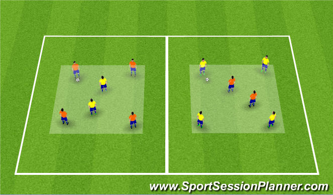 Football/Soccer Session Plan Drill (Colour): Reitabolti, 4:2