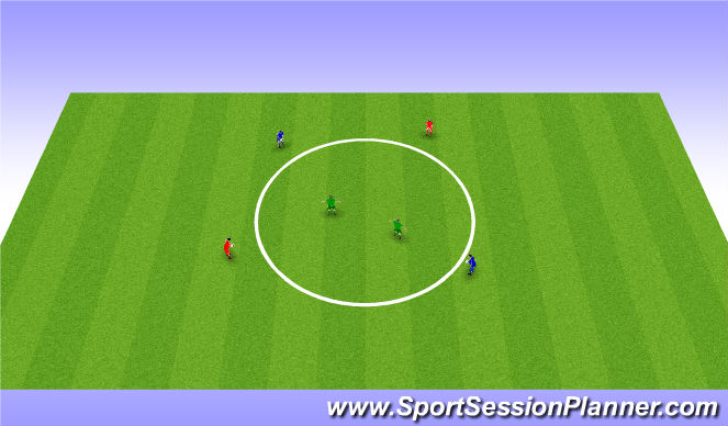 Football/Soccer Session Plan Drill (Colour): Circle