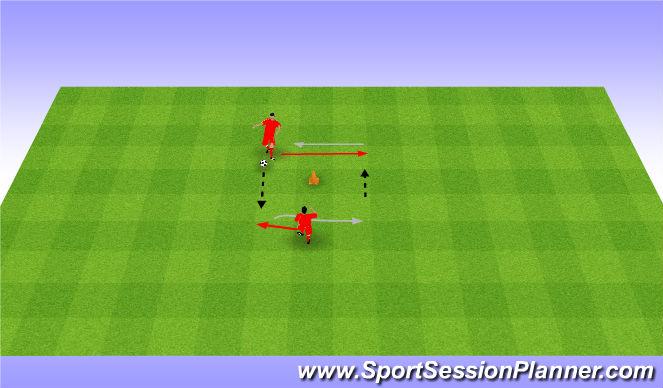 Football/Soccer Session Plan Drill (Colour): Przyjęcia i podania.