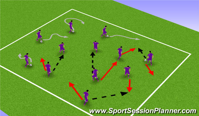 Football/Soccer Session Plan Drill (Colour): Warm up3