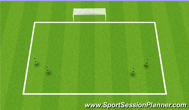 Football/Soccer Session Plan Drill (Colour): saves with distribution