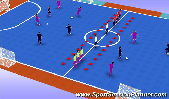 Futsal Session Plan Drill (Colour): Match