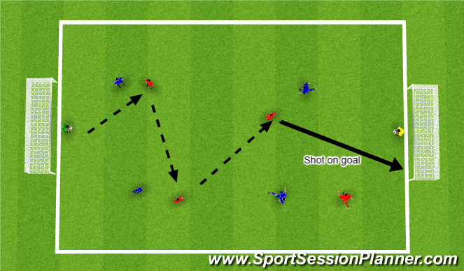 Football/Soccer Session Plan Drill (Colour): Game-related practice