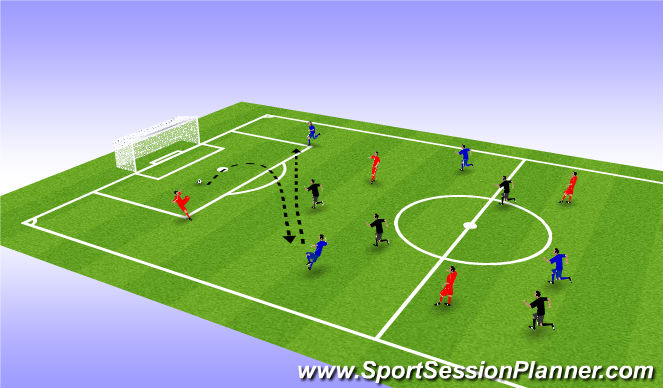 Football/Soccer Session Plan Drill (Colour): Ball Mastery in Air
