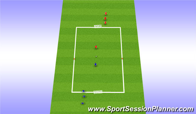 Football/Soccer Session Plan Drill (Colour): Dribbling Grid Set Up