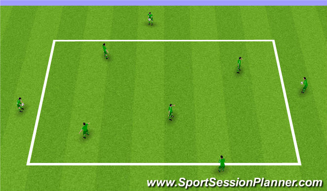 Football/Soccer Session Plan Drill (Colour): Basic handling