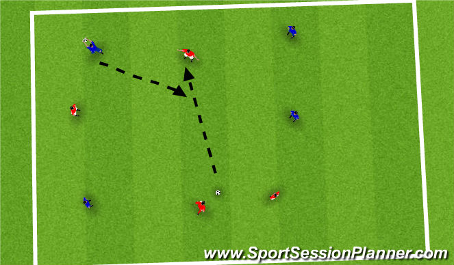 Football/Soccer Session Plan Drill (Colour): hit my ball