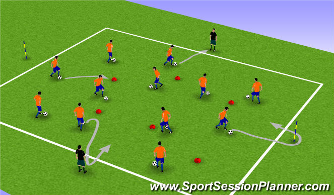 Football/Soccer Session Plan Drill (Colour): Warm up2
