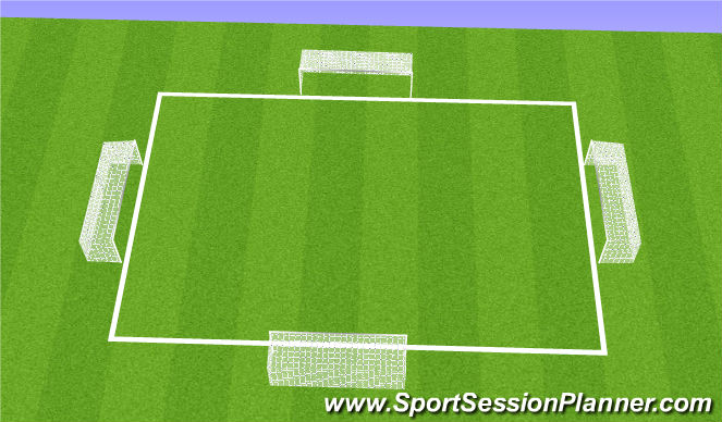 Football/Soccer Session Plan Drill (Colour): 4v4 Chaos