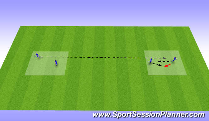 Football/Soccer Session Plan Drill (Colour): Passing technique exercise