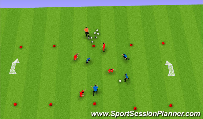 Football/Soccer Session Plan Drill (Colour): SSG in Tight Areas
