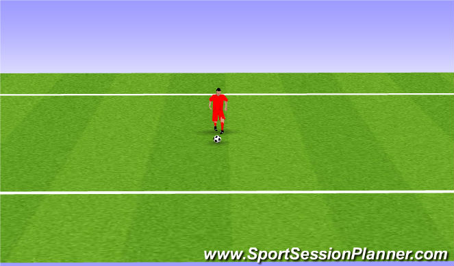 Football/Soccer Session Plan Drill (Colour): Toe Taps