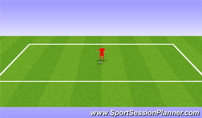 Football/Soccer Session Plan Drill (Colour): Sole Taps Forward/Backwards