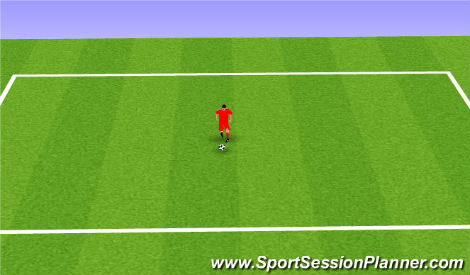 Football/Soccer Session Plan Drill (Colour): Step-On Turn