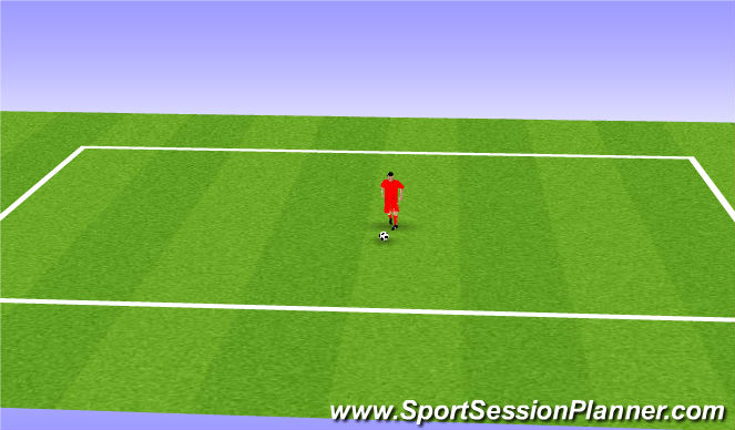 Football/Soccer Session Plan Drill (Colour): Drag Back Turn