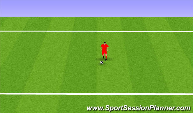 Football/Soccer Session Plan Drill (Colour): Back Heel