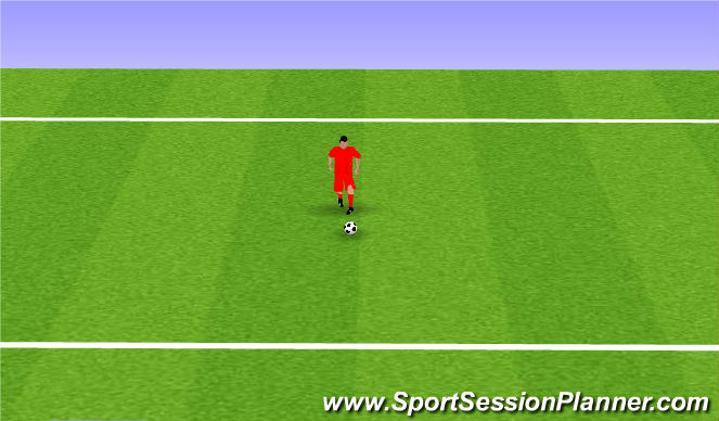 Football/Soccer Session Plan Drill (Colour): Step kick