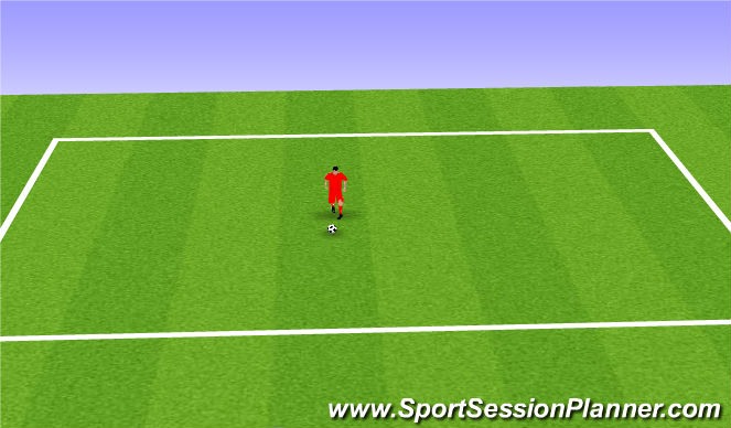Football/Soccer Session Plan Drill (Colour): Toe taps, Stepover, Slide