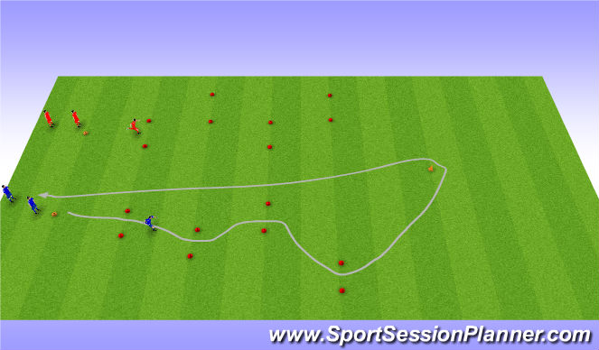 Football/Soccer Session Plan Drill (Colour): Running/dribbling race