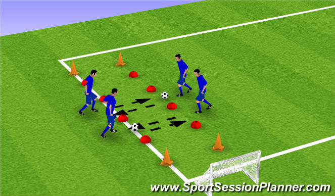 Football/Soccer Session Plan Drill (Colour): Aannemen - pass