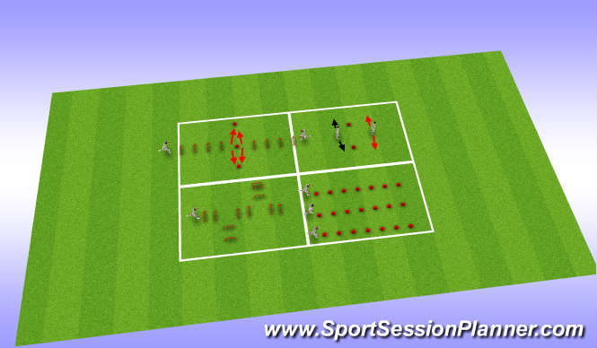 Football/Soccer Session Plan Drill (Colour): Agility & Landing Mechanics drills