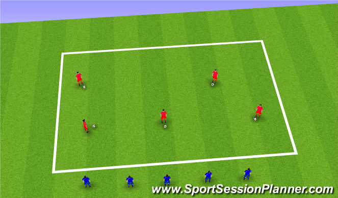 Football/Soccer Session Plan Drill (Colour): Shielding Warm Up