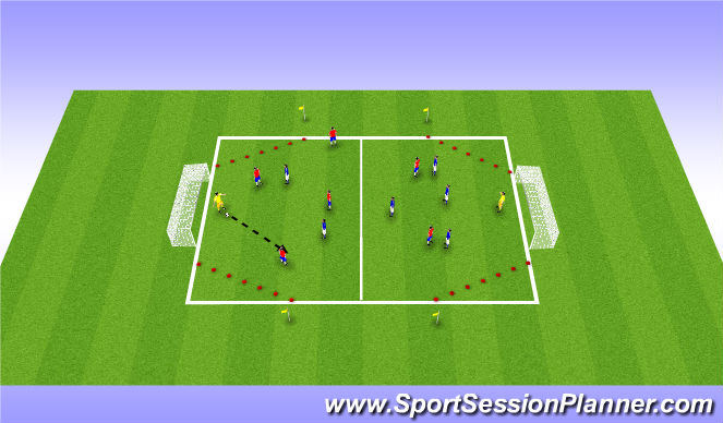 Football/Soccer Session Plan Drill (Colour): Diamonds are forever