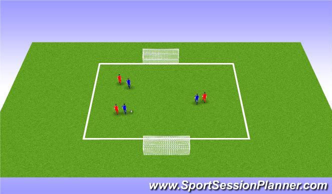 Football/Soccer Session Plan Drill (Colour): 4v4 game me