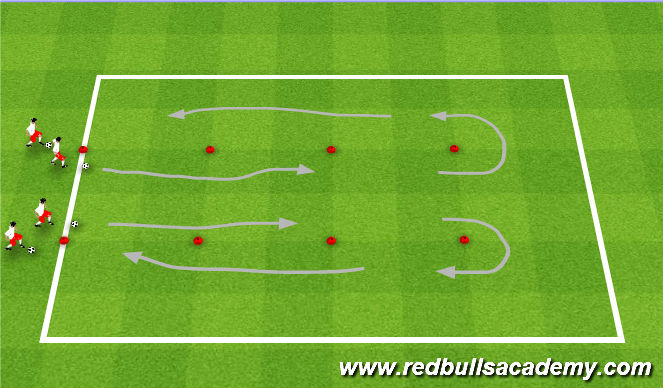 Football/Soccer Session Plan Drill (Colour): Getting Touches